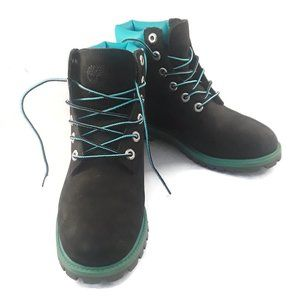 """Timberland Boot 6"""" Sz 5 Boy's Youth Black Suede"""